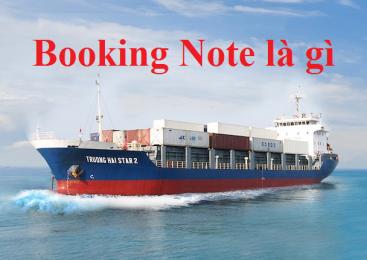 Booking note là gì?