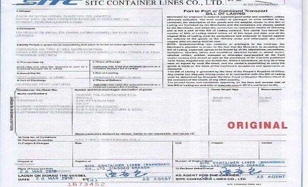 Trường hợp áp dụng vận đơn theo lệnh tương ứng theo từng đối tượng