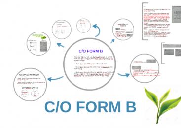 Điều kiện cấp C/O mẫu B – xuất xứ hàng hóa không ưu đãi