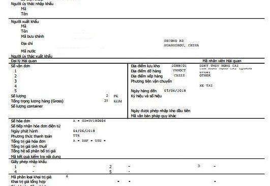 Xử lý các tờ khai hải quan lỗi trên Hệ thống hải quan
