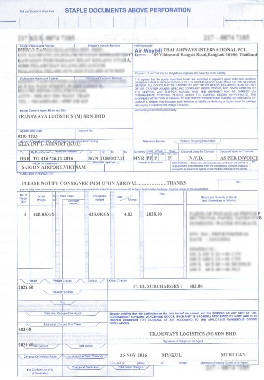 Nội dung chi tiết về vận đơn đường hàng không