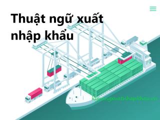Tổng hợp thuật ngữ xuất nhập khẩu