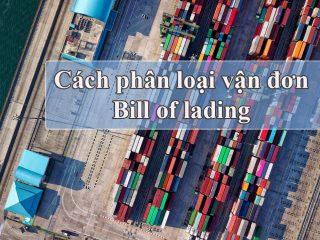 Cách phân loại vận đơn bill of lading