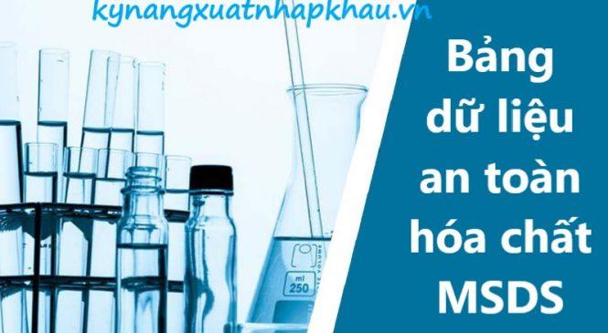 Bảng dữ liệu an toàn hóa chất MSDS